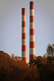 Chimneys at electric plant Stock Image