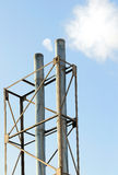 Chimneys at the electrical energy station Stock Image