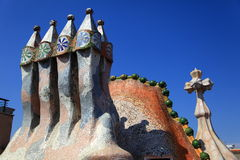 Chimneys Gaudi 5 La Pedrera Royalty Free Stock Photography