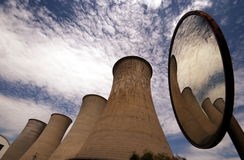 Chimneys of a geothermal power plant Royalty Free Stock Photo