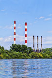 Chimneys of the heating plants Stock Image