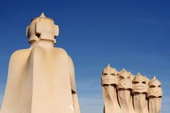 Chimneys of La Pedrera Stock Image