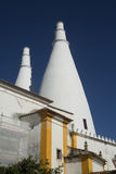 Chimneys of national palace of sintra in Portugal Stock Photo