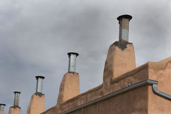 Chimneys in Old Town district of Albuquerque Stock Photo