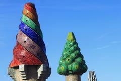 Chimneys at Palau Guell Royalty Free Stock Photo