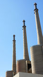 Chimneys of the power station Royalty Free Stock Image
