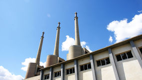 Chimneys of the Power station Royalty Free Stock Photos