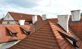 Chimneys on the roof Royalty Free Stock Images