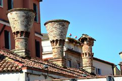 Chimneys on the roof Stock Image