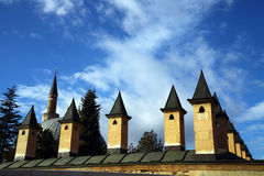Chimneys on roof Stock Images