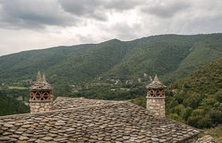 Chimneys on the roofs Stock Image