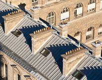 Chimneys on the roofs. Paris. France Stock Images