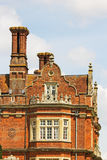 The chimneys and rooftop of a Tudor building, England. Stock Photography