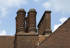 Chimneys of Schloss Cecilienhof Stock Images