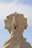 Chimneys shaped anthropomorphic soldiers on the terrace of the Casa Mila or La Pedrera building. BARCELONA, CATALONIA, SPAIN Stock Image