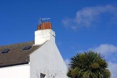 Chimney and sky Stock Photo