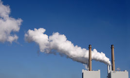 Chimneys and smoke Stock Photos