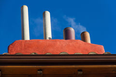 Chimneys with Smoke Royalty Free Stock Images