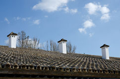 Chimneys in southern spain Royalty Free Stock Images