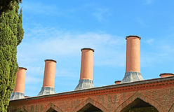 Chimneys on Sultan's kitchen at Topkapi palace in Istanbul Stock Photography
