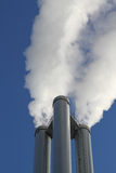 Chimneys of a thermal power station Royalty Free Stock Photography