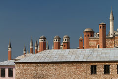Chimneys from Topkapi Palace Royalty Free Stock Photo