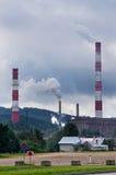 Chimneys of Vilnius Power Heating Stock Photos