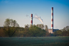 Chimneys of Vilnius Power Heating Royalty Free Stock Photography
