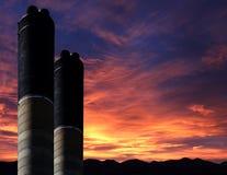 Chimnies al tramonto Fotografia Stock Libera da Diritti