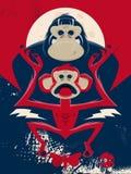 Chimp and gorilla illustration Stock Photos