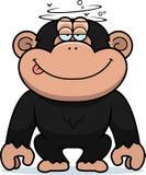 Chimpancé estúpido de la historieta Foto de archivo