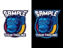 chimpansee in moderne dierlijke mascotte voor esportembleem en t-shirtillustratie Royalty-vrije Stock Afbeeldingen
