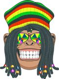 Chimpansee Rastafarian Royalty-vrije Stock Afbeeldingen