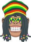 Chimpanzé Rastafarian Imagens de Stock Royalty Free