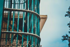 Chimpanzee climb in cage. View of chimpanzee climb in cage royalty free stock image