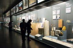 Chinês Ásia, Pequim, o museu principal, o capital antigo da exposição do Pequim, a histórica e a cultural Foto de Stock