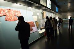 Chinês Ásia, Pequim, o museu principal, o capital antigo da exposição do Pequim, a histórica e a cultural Imagem de Stock
