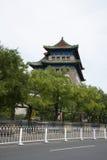 Chinês asiático, Pequim, arquitetura antiga, Zhengyang Jianlou Fotos de Stock Royalty Free