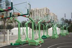 Chinês asiático, Pequim, centro de MasterCard, o salão do basquetebol de Wukesong, parque temático do basquetebol de HI-PARK Imagens de Stock