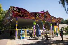 Chinês asiático, Pequim, parque de Chaoyang, o parque de diversões corajoso, Fotografia de Stock Royalty Free