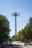 Chinês asiático, Pequim, parque de Chaoyang, o parque de diversões corajoso, Imagens de Stock