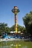 Chinês asiático, Pequim, parque de Chaoyang, o parque de diversões corajoso, Foto de Stock