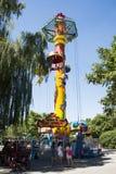 Chinês asiático, Pequim, parque de Chaoyang, o parque de diversões corajoso, Imagens de Stock Royalty Free