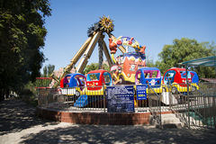 Chinês asiático, Pequim, parque de Chaoyang, o parque de diversões corajoso, Fotografia de Stock