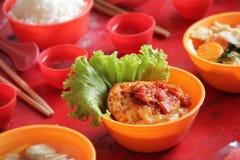 Chinês - culinária indonésia Fotografia de Stock