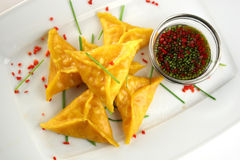 Chinês Dim Sum com sause da soja Imagens de Stock Royalty Free