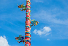 Chinês do dragão em Tailândia Foto de Stock