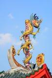 Chinês do dragão no templo Fotografia de Stock Royalty Free