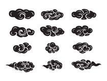 Chinês do estilo da nuvem Imagens de Stock