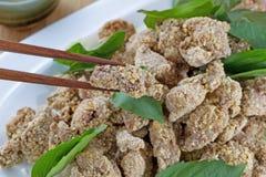 Chinês Fried Chicken pronto para comer Imagem de Stock
